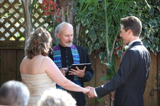 Backyard Ceremony (Schneider photo)