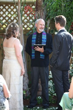 Backyard ceremony (Karen Schneider photo)