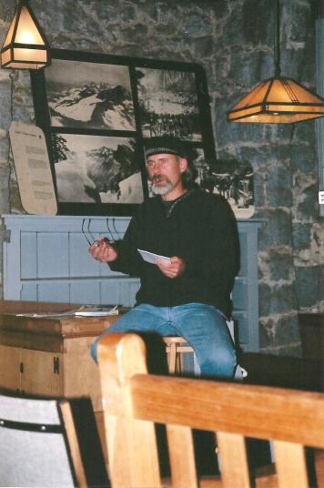 Book Reading, LeConte Lodge, Yosemite National Park, CA
