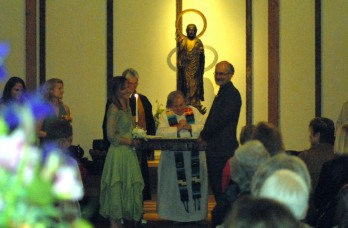 My own wedding (Buddhist Zendo with Buddhist, Christian, Jewish and Wiccan celebrants)