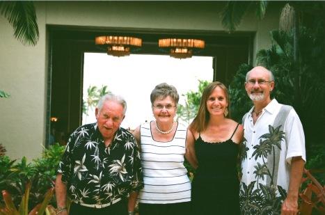 Two couples honeymoon in Hawaii