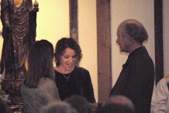 Rabbi Stacy sings a blessing