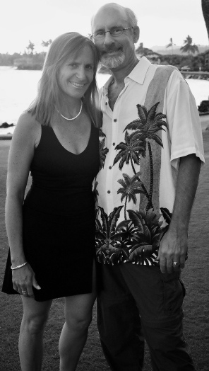 Carol and Chris in paradise
