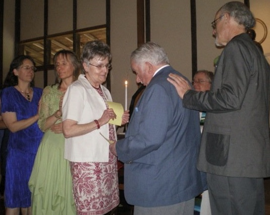 Janet and Charlie renewing vows