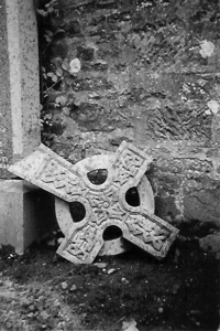 Broken cross in Scotland